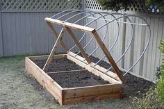 easy hoop house for planters