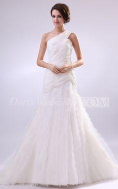 Vintage One-Shoulder Wedding Dress with Open Back #DorisWedding #beautiful #wedding #dresses #affordable #wedding #dresses #wedding #dress #styles #unique #wedding #dresses #backless #wedding #dresses #shop