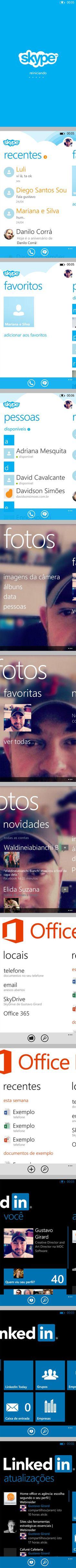 Referências de App's WP8 - Nokia Lumia 620 Skype - Fotos - Office - Linkedin