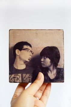 Did you know you can transfer INKJET printed images onto wood? Yes . . . this photo transfer to wood is easy with Mod Podge and regular school glue.