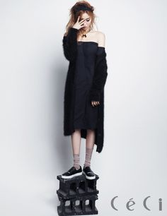Follow me : @myemilypierce for more lovely outfit ideas #women #fashion . 2014.11, CeCi, Lee Sung Kyung #lee sung kyung