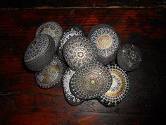 Mandala Hand painted Stones set 10 stones drawing stones.Wedding gift,Wedding flavors on Etsy, $75.00