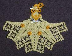 Ms Daffodil Crinoline Girl Doily-crochet pattern to buy Crochet Dollies, Crochet Quilt, Crochet Girls, Crochet Art, Thread Crochet, Filet Crochet, Vintage Crochet, Crochet Crafts, Crochet Projects