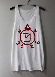 Supernatural Spell Shirt Angel Banishing Sigil Shirt Tank Top Tunic TShirt T Shirt Singlet - Size S M L