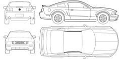 mustang blueprints - Google Search