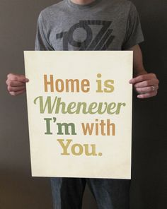 Home is Whenever I'm With You 16x20 Art Print by LuciusArt on Etsy, $65.00
