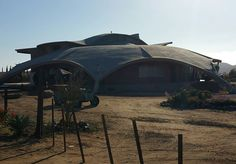 A concrete spaceship landed in the heart of #valledeguadalupe at #VinciolaAlximia @discoverbajacalifornia @valledeguadalupebaja #winery #wineryvisit #bajauncorked @bajauncorked