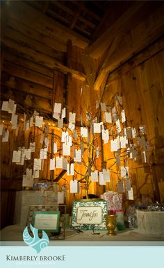 manzanita branches, guests write their wishes for the couples and hang them