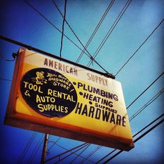 * hardware// #indianapolis #type #signage by funnel / eric kass, via Flickr