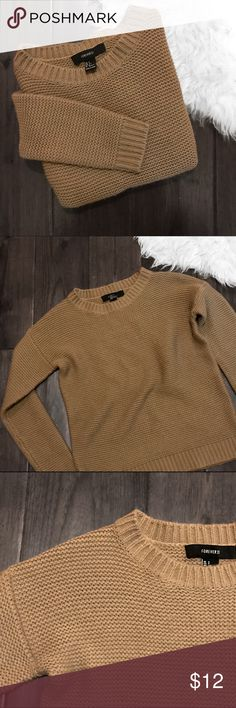 Forever 21 Camel Sweater Chunky knit taupe beige crewneck pullover sweater from Forever 21. Size small. Super soft and cozy knit. Never been worn and in perfect condition. Brand new without tags. Forever 21 Sweaters Crew & Scoop Necks