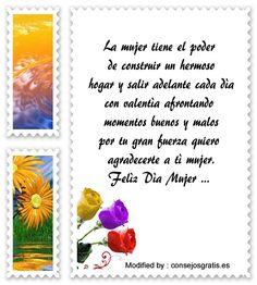 mensajes bonitos por el dia de la mujer,descargar frases bonitas por el dia de la mujer: http://www.consejosgratis.es/excelentes-ideas-por-el-dia-de-la-mujer/