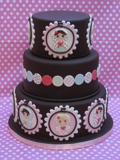 """Babushka Cake --love the little framing idea, could do it with a """"likeness"""" of the celebrant"""