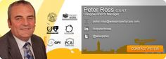 Doesn't Peter look handsome.  The marketing team at #WisePropertyCare are too good!  #PeterRoss