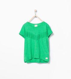 ZARA - KIDS - Fringed T-shirt