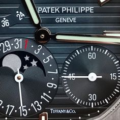 """You could say we are very detail oriented Very rare Patek Philippe 5712 co branded with """"Tiffany & Co."""" #forsale #patekphilippe #nautilus #5712 #tiffanyandco #tiffany #sihh2017"""