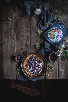 Blueberry Dutch Baby From the Cookbook 'First We Eat' by Eva Kosmas Flores Sweet Breakfast, Sunday Breakfast, Breakfast Recipes, Dinner Recipes, Dutch Baby Pancake, Dark Food Photography, Easy Family Meals, Family Recipes, New Cookbooks