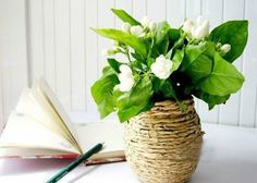 Papel Kraft Vase - Try your hand at these charming DIY vase Diy Flowers, Flower Vases, Flower Pots, Paper Flowers, Paper Vase, Diy Paper, Vase Centerpieces, Vases Decor, Flower Pot Design