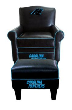 NFL Carolina Panthers Game Time Chair and Ottoman