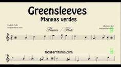 Greensleeves Partitura de Flauta Mangas Verdes