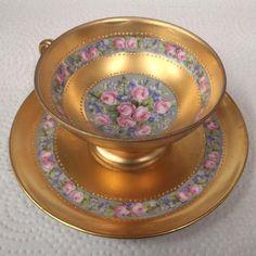 The Porcelain China Diane Porcelain Dinnerware, Porcelain Ceramics, Painted Porcelain, Porcelain Jewelry, Fine Porcelain, Hand Painted, Vintage Cups, Vintage Tea, Vintage Decor