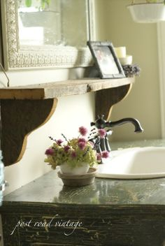 Need to do this over pedestal sink in Powder Room.