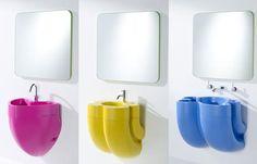 Colorful Kids Bathrooms, Designer Furniture, Accessories and Bathroom Fixtures for Children