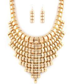Hollow Chain Bib (gold)