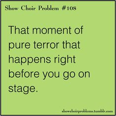 job so far everyone at FAME NYC! Happened a few times. But that all goes away one you get on stage:)Happened a few times. But that all goes away one you get on stage:) Choir Humor, Choir Memes, Dance Memes, Dance Quotes, Music Humor, Theatre Jokes, Drama Theatre, Theatre Nerds, Music Theater