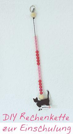 DIY Rechenkette basteln als Geschenk zur Einschulung, erste Klasse, ohne Nähen, Bastelanleitung, Rechenkette selbermachen
