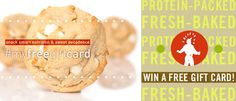 "LAST DAY to enter our FREE @proteinbakery gift giveaway! Simply 1. ""Follow"" us, and 2. re-pin our contest pin to as many of your boards as you want. 3. Mention us— @proteinbakery. Sweeten the holidays before they start! Thru 11/10."