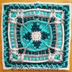 The Suzanne's Frasera Mandala Square was created for the Mandala Blanket CAL by The Lavender Chair! The Mandala Blanket CAL has 20 unique squares Crochet Afghans, Crochet Squares Afghan, Granny Square Crochet Pattern, Crochet Blocks, Afghan Crochet Patterns, Crochet Motif, Crochet Yarn, Crochet Stitches, Free Crochet