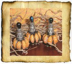 Miniature Pumpkin Potion Bottles, handmade by CauldronCraft, via Flickr