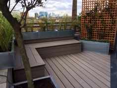 Roof Deck With Built In Benches Planters And Privacy Wall Saves E Provides