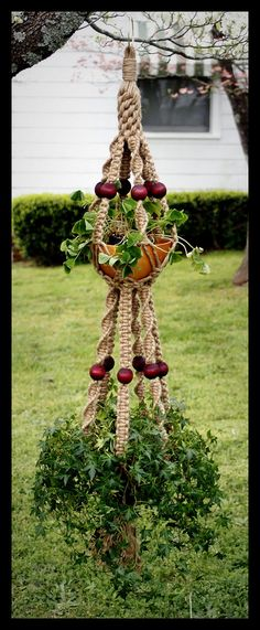 Merlot, A Handmade Natural Jute Macrame Double Plant Hange… | Flickr
