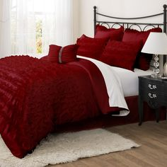 Lush Decor Avery 7 Piece Comforter Set & Reviews | Wayfair