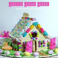 Easter Sugar Cookie House -This Easter Sugar Cookie House is so much fun to make and the kids absolutely love making them.