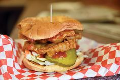 pork tenderloin sandwich Kitty's Cafe Kansas City