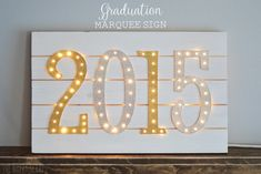 Graduation Marquee Sign - The Happy Scraps
