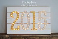 Graduation Marquee Sign - The Happy Scraps