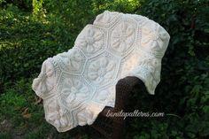 Embossed Crochet Daisy Blanket por bonitapatterns en Etsy
