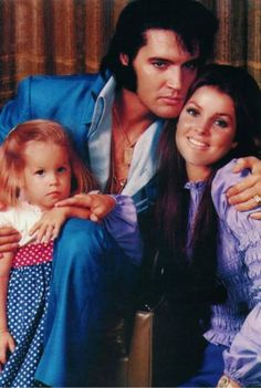 Elvis and Priscilla and Lisa Marie