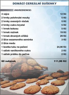 Czech Recipes, Raw Food Recipes, Cake Recipes, Cooking Recipes, Healthy Recipes, Food Art, Smoothies, Beans, Food And Drink