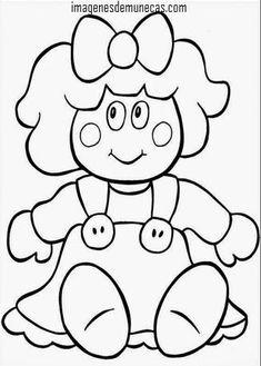 muñecos para colorear
