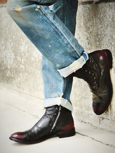 Officine Creative handmade leather boots made in Italy. BEAUTIFUL!!!