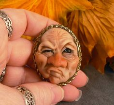OOaK Finding Fae Fairy Sculpture Polymer Clay Brooch by oddfae, $50.00