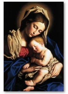 Imagens da Virgem Maria com o menino Jesus | Decoupage.net.br