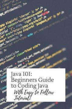 Beginners guide to #coding #java!