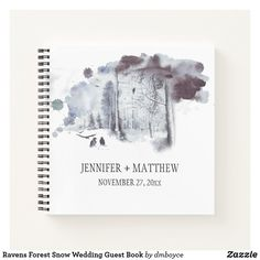 Shop Ravens Forest Snow Wedding Guest Book created by dmboyce.