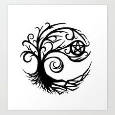 Pentacle Tattoo, Wicca Tattoo, Witchcraft Tattoos, Wiccan Art, Wiccan Symbols, Viking Symbols, Egyptian Symbols, Viking Runes, Ancient Symbols
