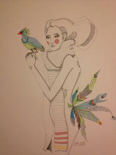 strange bird, Caroline Cimen